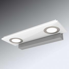 Zweiflammige LED-Wandleuchte Pano, weiß