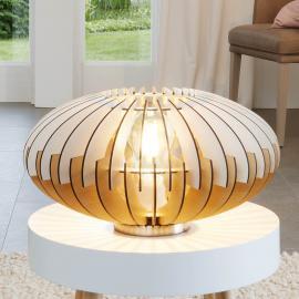 Dekorative Tischleuchte Sotos aus Holz