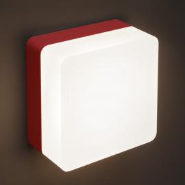 Rot lackierte LED-Wandleuchte Muffin