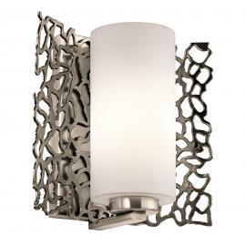 Extravagant gestaltete Wandleuchte Silver Coral