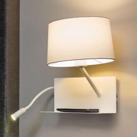 Praktische Wandleuchte Handy mit LED-Lesearm