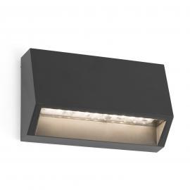 Eckige LED-Außenwandleuchte Must - 9,6 cm