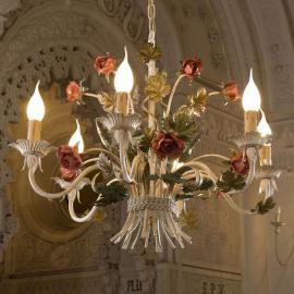 Edler Kronleuchter ANCONA mit Rosen