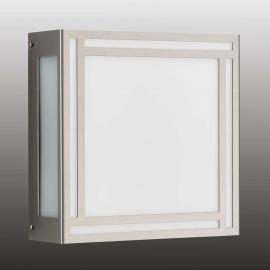 Quadratische LED-Außenwandleuchte Ruby, Edelstahl