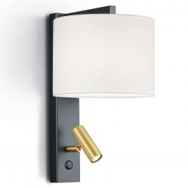 Wandleuchte Mila mit schwenkbarem LED-Leselicht