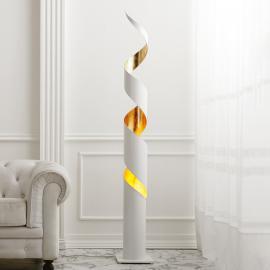 Exklusive Stehleuchte Remi in Weiß-Gold