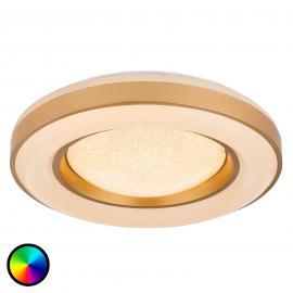 Dimmbare LED-Deckenleuchte Colla mit Farbsteuerung