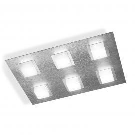 GROSSMANN Basic LED-Deckenleuchte, rechteckig alu