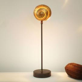 Schöne Tischleuchte SCHNECKE GOLD aus Eisen