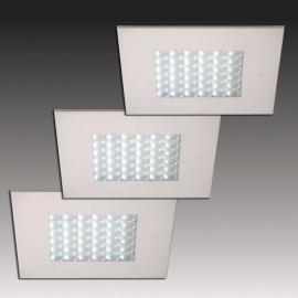 Q 68-LED Einbaustrahler in Edelstahloptik, 3er-Set