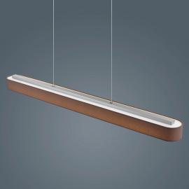 Bora - LED-Pendelleuchte in Braun höhenverstellbar