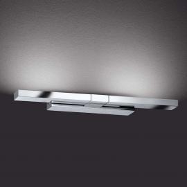 Flexibel einsetzbare Wandleuchte Clareo LED chrom