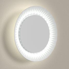 Atmosphärische LED-Wandleuchte Shine weiße Abdeck.