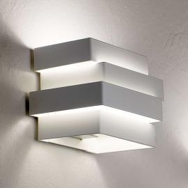 Weiße LED-Wandleuchte Escape Cube