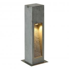 Aus Naturstein - LED-Sockelleuchte Arrock Stone