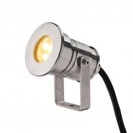 SLV Dasar Projector LED-Außenstrahler edelstahl