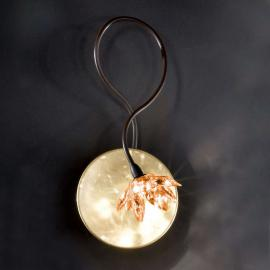 Florale Wandleuchte FIORELLA 1-flammig, amber