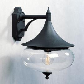 Formschöne Außen-Wandleuchte Libra, schwarz