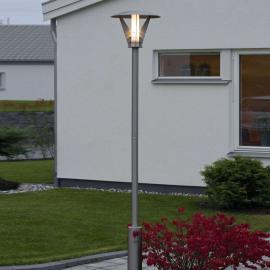 Mastleuchte LARISSA aus Edelstahl, modernes Design