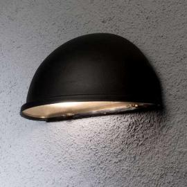 Solide Außenwandleuchte TORINO E27, schwarz