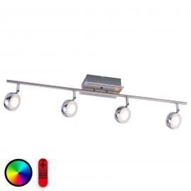 4-flg. LED-Deckenstrahler Lola-Opti inkl. Fernbed.