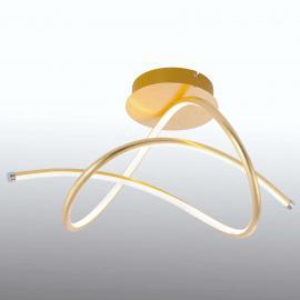 Geschwungene LED-Deckenleuchte Violetta in Gold