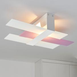 Moderne Deckenleuchte Triad 48 cm weiß/lila