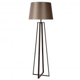 Rostbraune Stehleuchte Coffee Lamp mit Stoffschirm