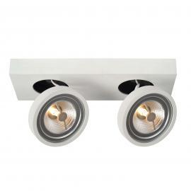 Weißer LED-Deckenstrahler Nenad, 2-flammig