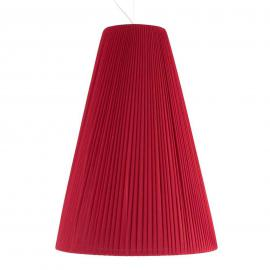 Leuchtend-rote Textil-Pendelleuchte Sheraton