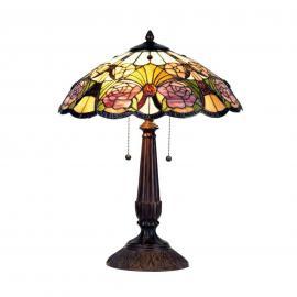 Florale Tischleuchte Rose, Tiffanystil