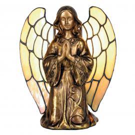 Tischleuchte Engel im Tiffany-Stil