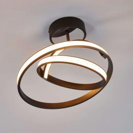 Largo - futuristische LED-Deckenleuchte in Schwarz