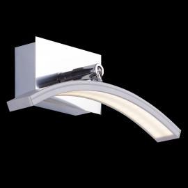 Bogenförmige LED-Wandleuchte Largo mit Alufinish