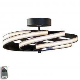 Zoya - moderne LED-Deckenleuchte, schwarz