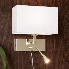 Mit LED-Leselampe - Wandleuchte Savoy