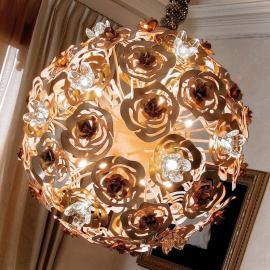 Kunstvolle LED Hängeleuchte VIE EN ROSE