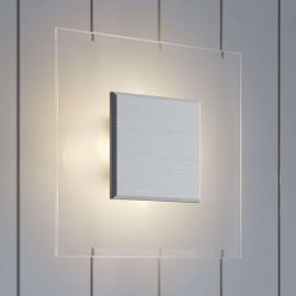 Quadratische LED-Deckenleuchte Lole aus Glas
