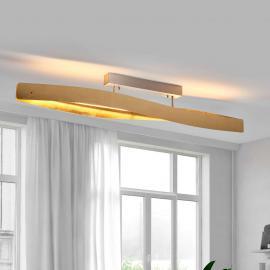 Elegante LED-Deckenleuchte mit Schlagmetallfinish