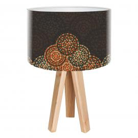 Dreibeinige Tischleuchte Jamila im Ethno-Design