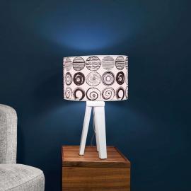 Trendige Tischleuchte Ueli mit Schwarz-Weiß-Design
