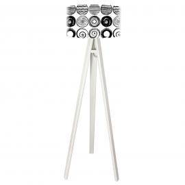 Stehleuchte Ueli in trendiger Schwarz-Weiß-Optik