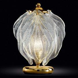 Exklusive Glas-Tischleuchte Foglie aus Muranoglas
