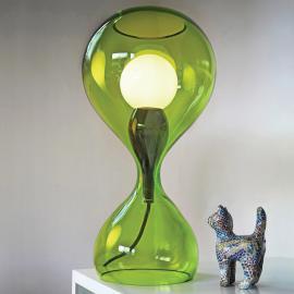 next Blubb - mundgeblasene Glas-Tischleuchte, grün