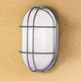 Ovale Außen-Wandleuchte DANA aus Edelstahl