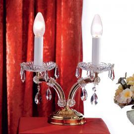 Noble Tischleuchte TJURA mit Kristallen