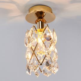 CHARLENE - vergoldete Kristall Deckenleuchte
