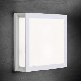 Henry - quadratische Außenwandleuchte in Weiß