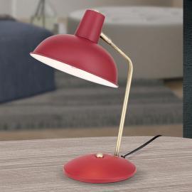 Im Vintage-Look - Tischleuchte Fedra rot