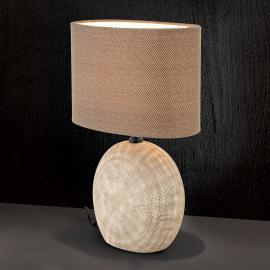 Keramik-Tischleuchte Ethno 38 cm braun, Fuß cotto